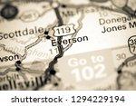 Everson. Pennsylvania. USA on a map