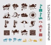 weather icons   Shutterstock .eps vector #129424271