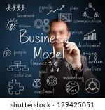 business man writing business... | Shutterstock . vector #129425051