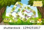 a snake ladder game template... | Shutterstock .eps vector #1294251817