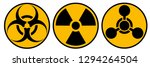 toxic sign  symbol. warning... | Shutterstock .eps vector #1294264504