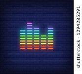equalizer neon sign. luminous... | Shutterstock .eps vector #1294285291