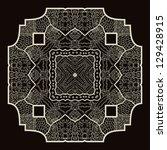 oriental mandala motif round... | Shutterstock .eps vector #129428915