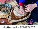 argan oil extraction by...   Shutterstock . vector #1294294237