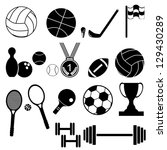 icons set sports and games... | Shutterstock .eps vector #129430289