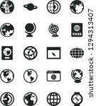 solid black vector icon set  ... | Shutterstock .eps vector #1294313407