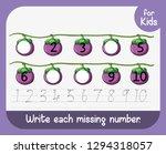 write each missing number... | Shutterstock .eps vector #1294318057