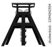 vector silhouette of coal mine... | Shutterstock .eps vector #1294342504