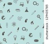 seamless science pattern | Shutterstock .eps vector #129435785