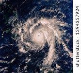 hurricane  satellite view. the...   Shutterstock . vector #1294357924