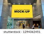 mock up large billboard with...   Shutterstock . vector #1294362451