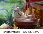 the pig's head sacrifice in the ... | Shutterstock . vector #1294378597