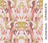 quirky tapestry pattern.... | Shutterstock .eps vector #1294381474