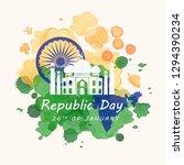 indian happy republic day | Shutterstock .eps vector #1294390234