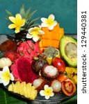 Tropical Exotic Fruits Near The ...