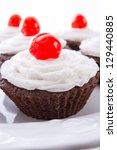 cupcakes   selective focus | Shutterstock . vector #129440885
