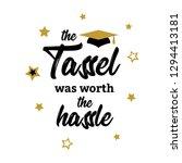 congrats graduates  class of... | Shutterstock .eps vector #1294413181