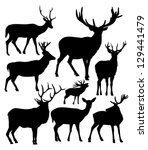 animals,antler,buck,deer,elk,fawn,hunting,male,mammals,nature,nobody,objects,silhouette,stag,vector