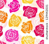 cute romantic floral pattern... | Shutterstock .eps vector #129442031