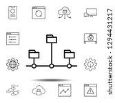 data  design icon. simple thin...