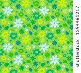 summer green seamless pattern... | Shutterstock . vector #1294461217