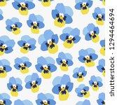 flower pattern. endless... | Shutterstock .eps vector #1294464694