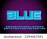 vector of modern font and... | Shutterstock .eps vector #1294467391