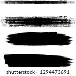 grunge paint stripe . vector... | Shutterstock .eps vector #1294473691