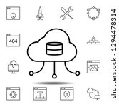cloud  data  network icon....