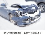 modern car wreck damaged after...   Shutterstock . vector #1294485157