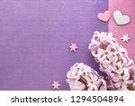 pink pearl hyacinth flowers...   Shutterstock . vector #1294504894