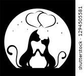 romantic meeting of cats ... | Shutterstock . vector #1294505581