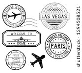 postmarks and travel stamps ... | Shutterstock . vector #1294508521