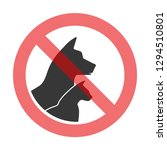 prohibition sign pet related ... | Shutterstock . vector #1294510801