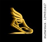 abstract icon of sports shoes... | Shutterstock . vector #1294511617