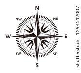 navigation compass or wind rose ... | Shutterstock .eps vector #1294512007