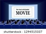 people in the cinema hall... | Shutterstock . vector #1294515337