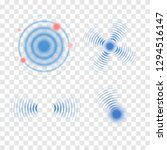 sonar wave sign. vector... | Shutterstock .eps vector #1294516147