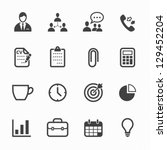 business and office icons with... | Shutterstock .eps vector #129452204