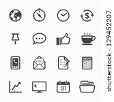business and office icons with... | Shutterstock .eps vector #129452207