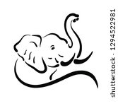 Vector Of Elephant Design On...
