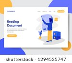 landing page template of... | Shutterstock .eps vector #1294525747