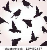 Seamless Silhouettes Of Birds ...