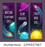 vertical space banners with... | Shutterstock .eps vector #1294527367