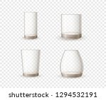 empty realistic glossy glasses... | Shutterstock .eps vector #1294532191