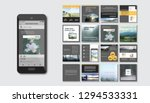set of modern trendy magazine... | Shutterstock .eps vector #1294533331