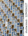 facade of a modern apartment... | Shutterstock . vector #1294536127
