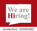 we are hiring with geometric... | Shutterstock .eps vector #1294561801
