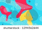 pop art color background.... | Shutterstock .eps vector #1294562644