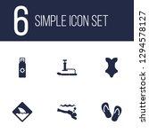 set of 6 coast icons set.... | Shutterstock .eps vector #1294578127